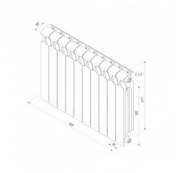 Радиатор биметаллический RIFAR MONOLIT в ассортименте(арт.7050,7292,7328,8317)